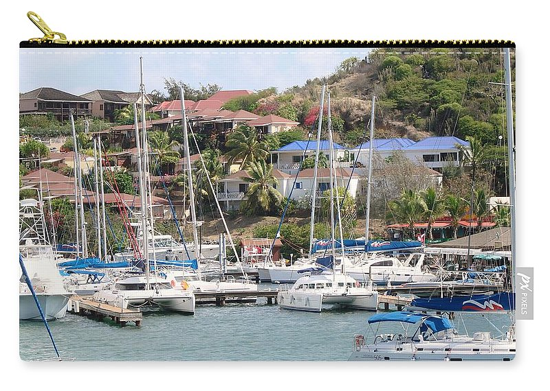 Oyster Bay Marina Carry-all Pouch featuring the photograph Oyster Bay Marina by Margaret Bobb