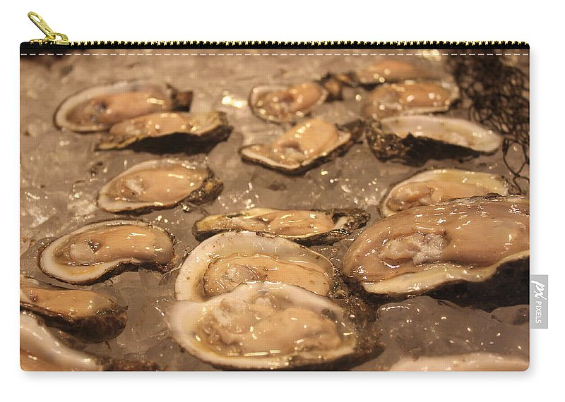 Oysters Carry-all Pouch featuring the photograph Oysters by Lauri Novak