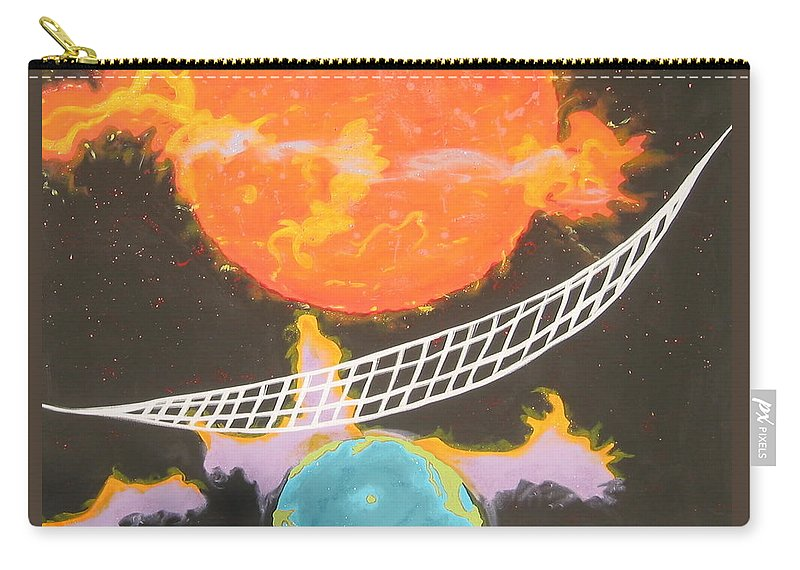 Environment Carry-all Pouch featuring the painting Ozone Net by V Boge