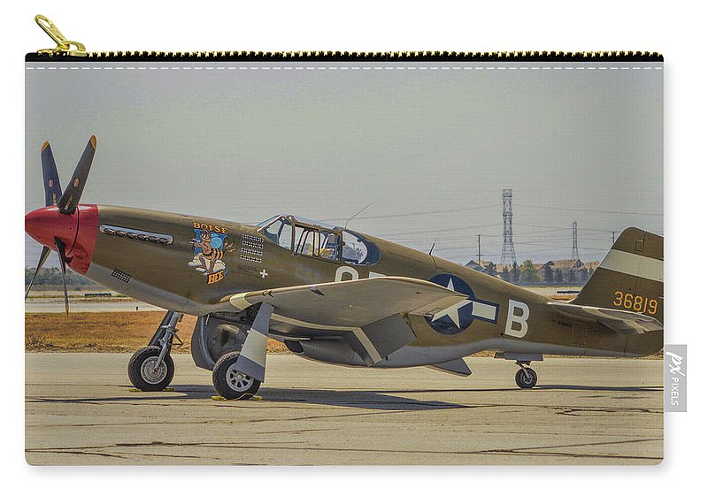 North American P-51c Mustang Carry-all Pouch featuring the photograph P-51c Mustang by Tommy Anderson