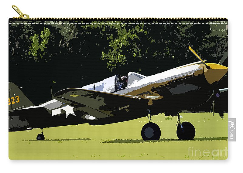 P 40 Carry-all Pouch featuring the painting P40 Take Off by David Lee Thompson