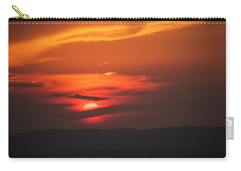 Sunset Carry-all Pouch featuring the photograph Pa Sunset by Amy Warr