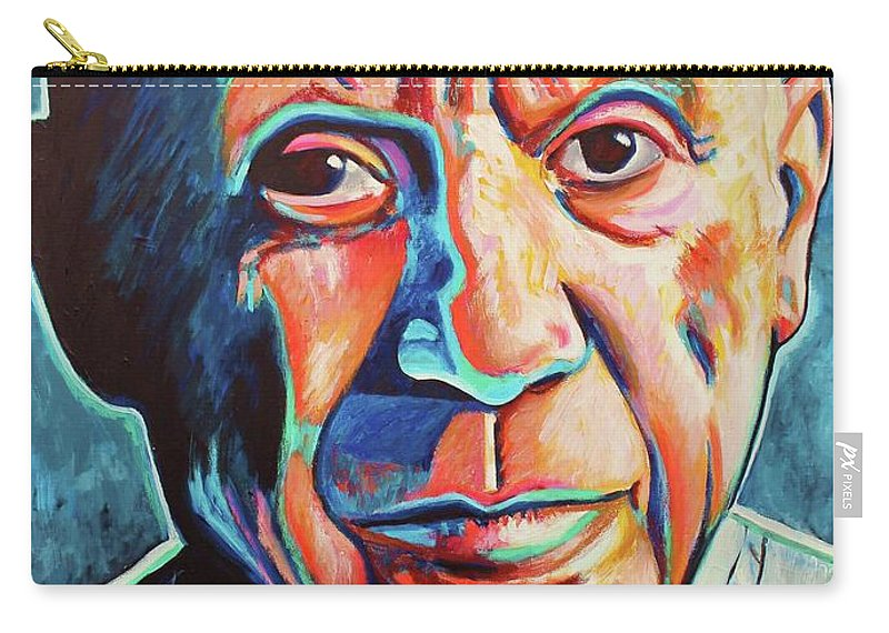 Pablo Picasso Carry-all Pouch featuring the painting Pablo Picasso by Venus
