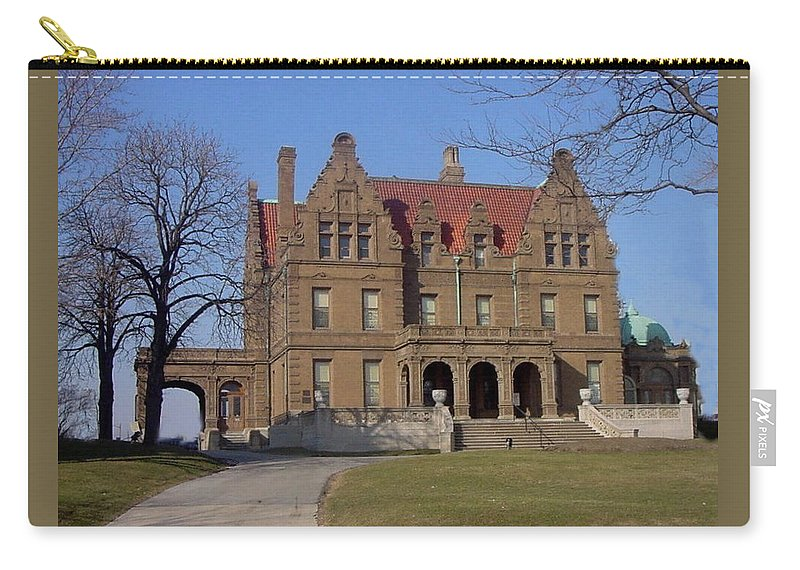 Pabst Mansion Carry-all Pouch featuring the photograph Pabst Mansion Photo by Anita Burgermeister