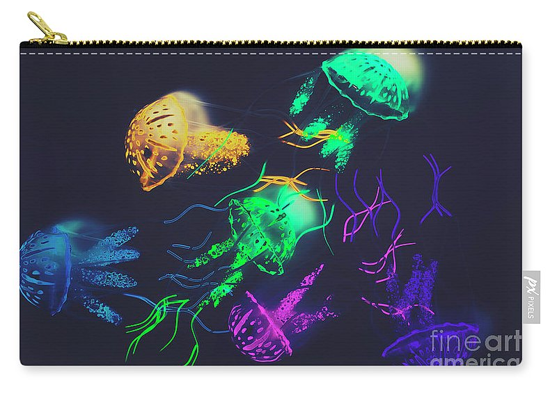 Retro Carry-all Pouch featuring the photograph Pacific Pop-art by Jorgo Photography - Wall Art Gallery
