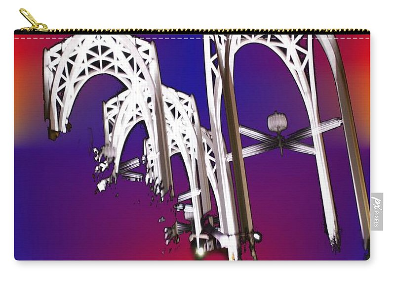 Seattle Carry-all Pouch featuring the photograph Pacific Science Center Arches by Tim Allen