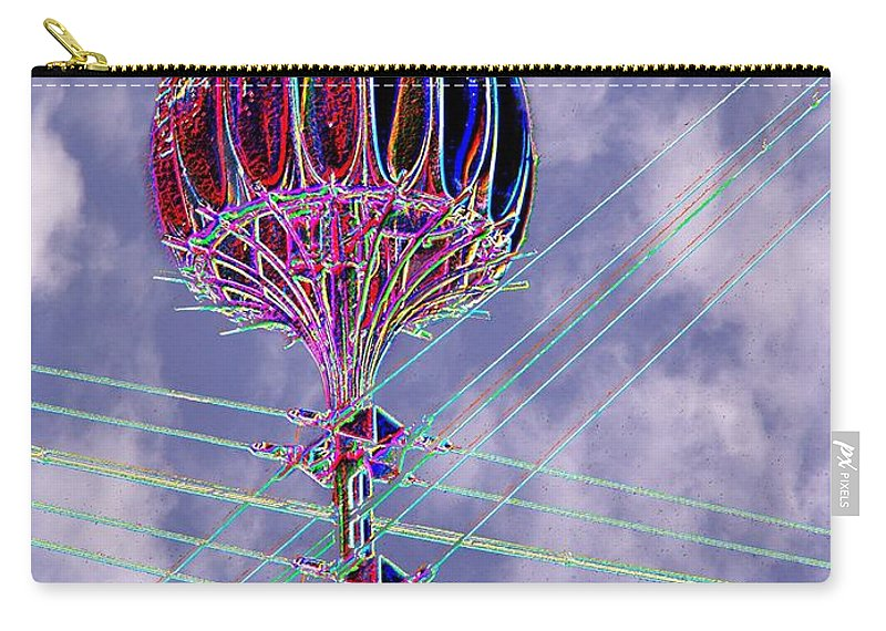 Seattle Carry-all Pouch featuring the photograph Pacific Science Center Lamp 2 by Tim Allen