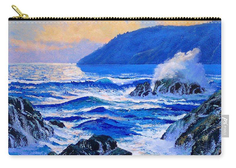 Ocean Carry-all Pouch featuring the painting Pacific Sunset by Frank Wilson