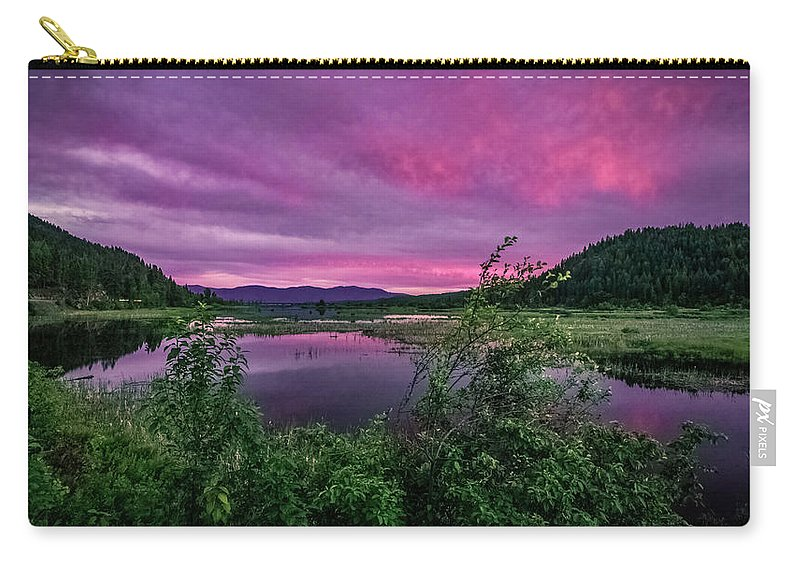Sunsets Carry-all Pouch featuring the photograph Pack River Sunset by Josh Smith Photography