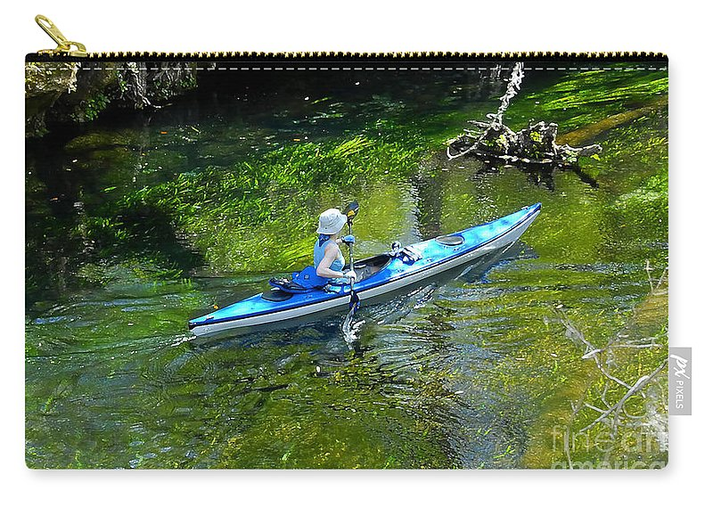 Ichetucknee Springs Carry-all Pouch featuring the photograph Paddling The Ichetucknee by David Lee Thompson