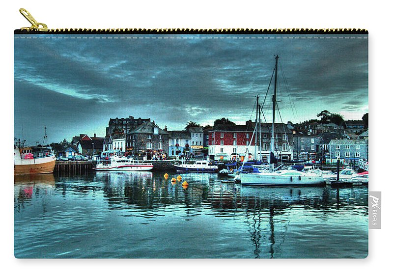 Padstow Carry-all Pouch featuring the photograph Padstow Harbour At Dusk by Rob Hawkins