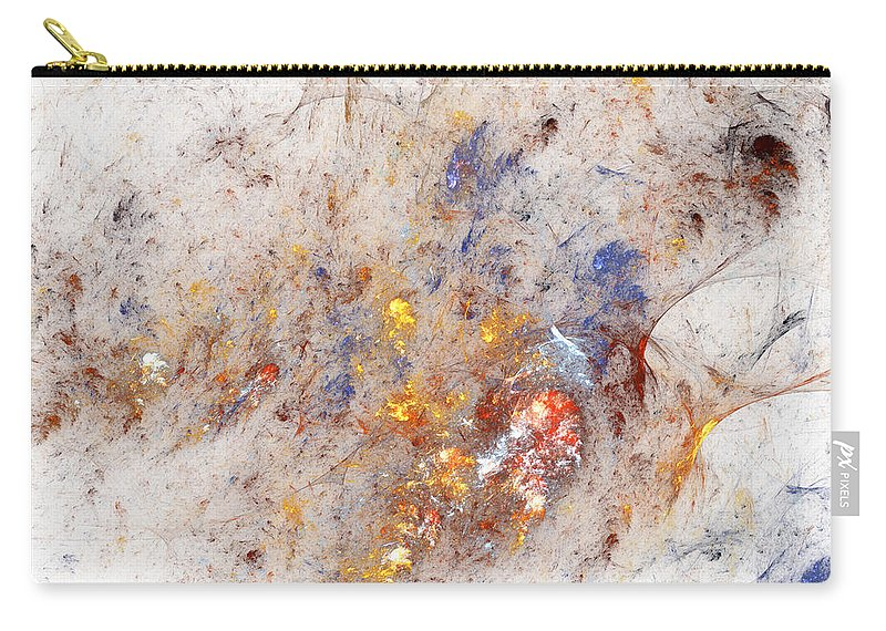 Abstract Carry-all Pouch featuring the digital art Paean To Pollack by Casey Kotas