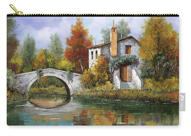 Landscape Carry-all Pouch featuring the painting Paesaggio Pastellato by Guido Borelli