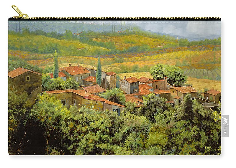 Tuscany Carry-all Pouch featuring the painting Paesaggio Toscano by Guido Borelli