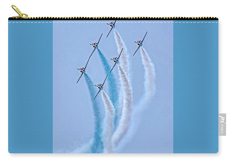Paf Sherdils Aerobatic Team Carry-all Pouch featuring the photograph Paf Shedilaerobatic Team Formation Flight by Syed Muhammad Munir ul Haq