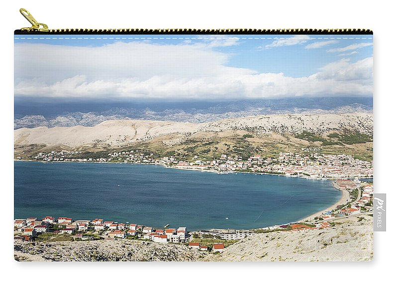 Balkans Carry-all Pouch featuring the photograph Pag Old Town In Croatia by Didier Marti