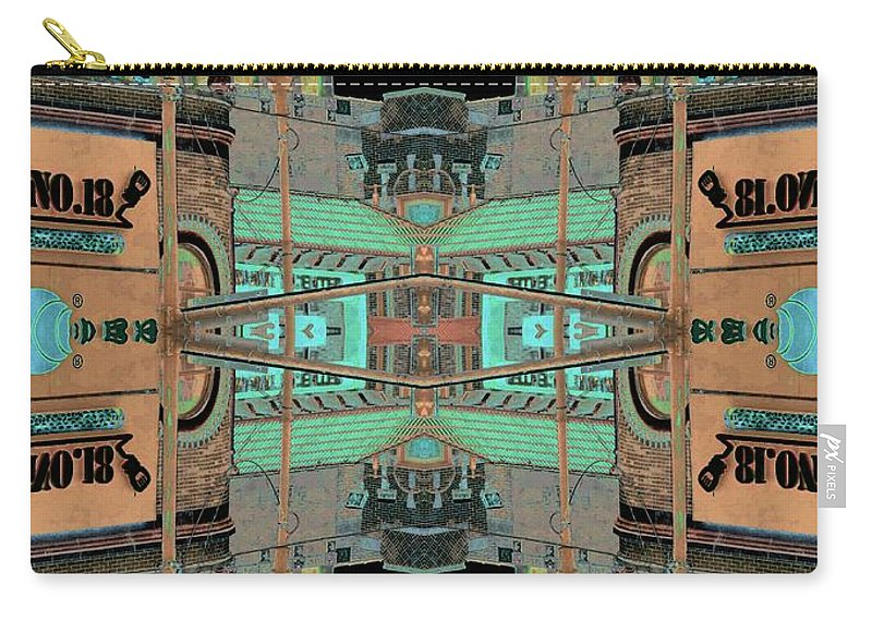 China Town Carry-all Pouch featuring the photograph Pagoda Tower Becomes Chinese Lantern 1 Chinatown Chicago by Marianne Dow