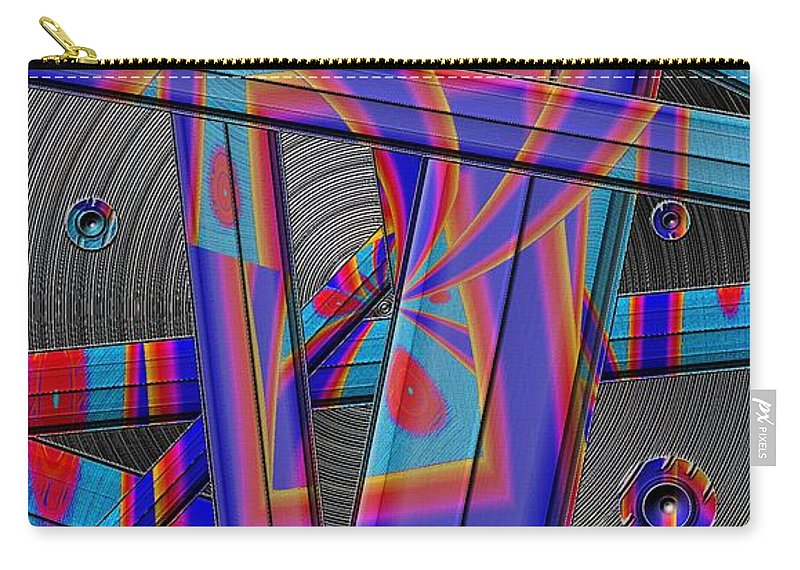 Abstract Carry-all Pouch featuring the digital art Painted Blades by Ron Bissett