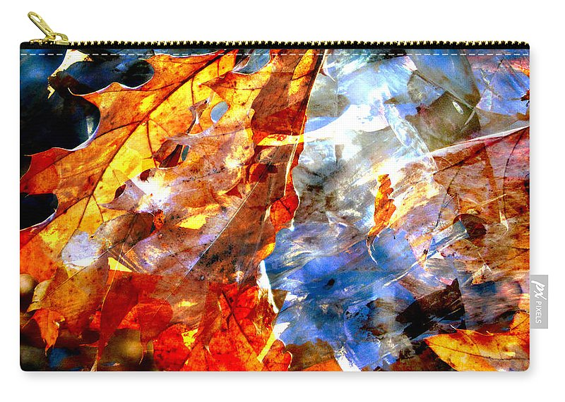 Leaf Carry-all Pouch featuring the photograph Painted Branches Abstract 1 by Anita Burgermeister