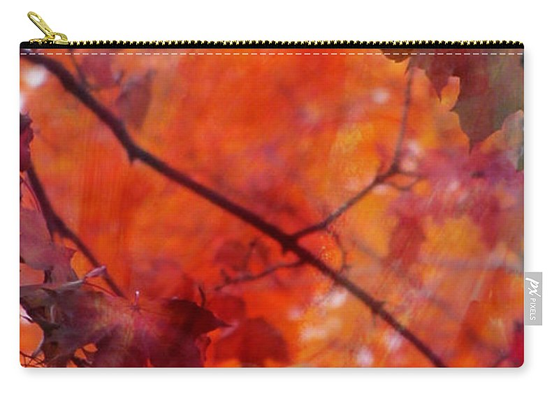 Leaf Carry-all Pouch featuring the photograph Painted Branches Abstract 5 by Anita Burgermeister