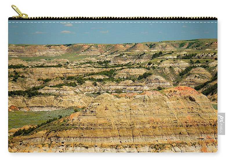 Badlands Carry-all Pouch featuring the photograph Painted Canyon by Beth Collins