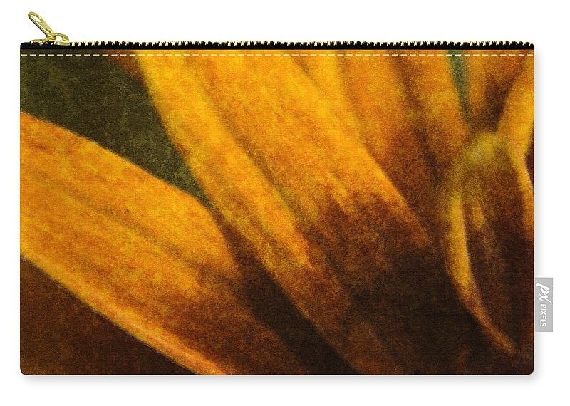 Painted Carry-all Pouch featuring the digital art Painted Daisy Sunburst by Teresa Mucha