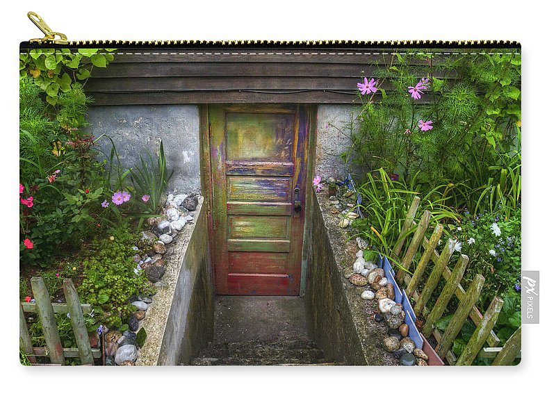 Provincetown Carry-all Pouch featuring the photograph Painted Garden Door by Tammy Wetzel