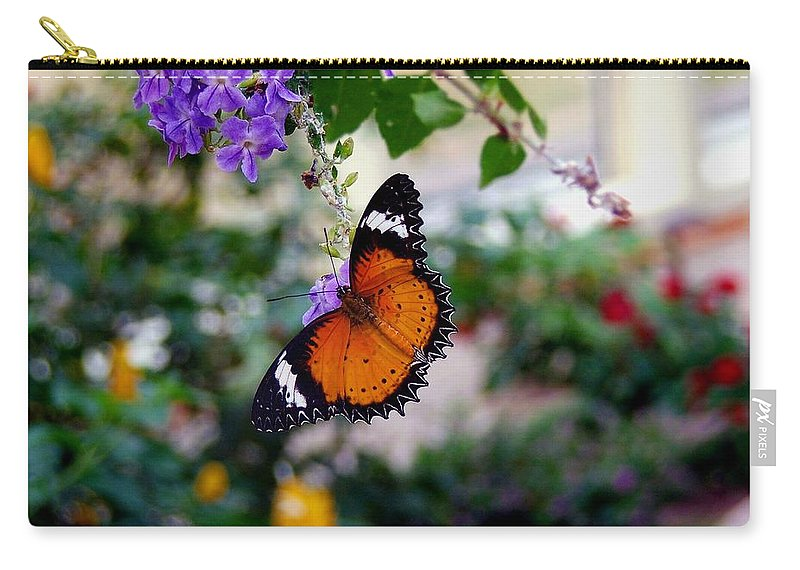 Butterfly Carry-all Pouch featuring the photograph Painted Lady by Robert Meanor