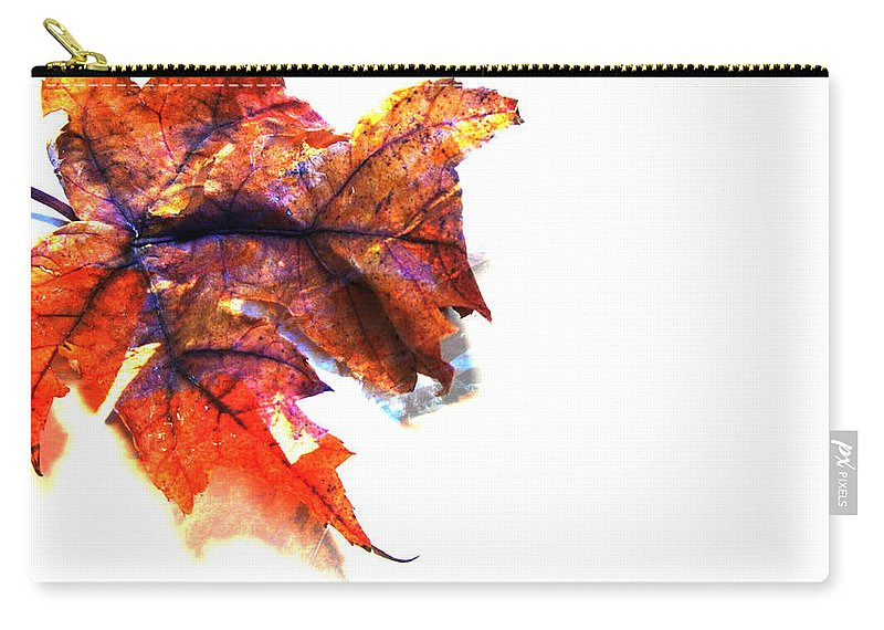 Leaf Carry-all Pouch featuring the photograph Painted Leaf Series 1 by Anita Burgermeister