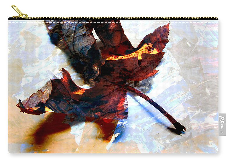 Leaf Carry-all Pouch featuring the photograph Painted Leaf Series 2 by Anita Burgermeister