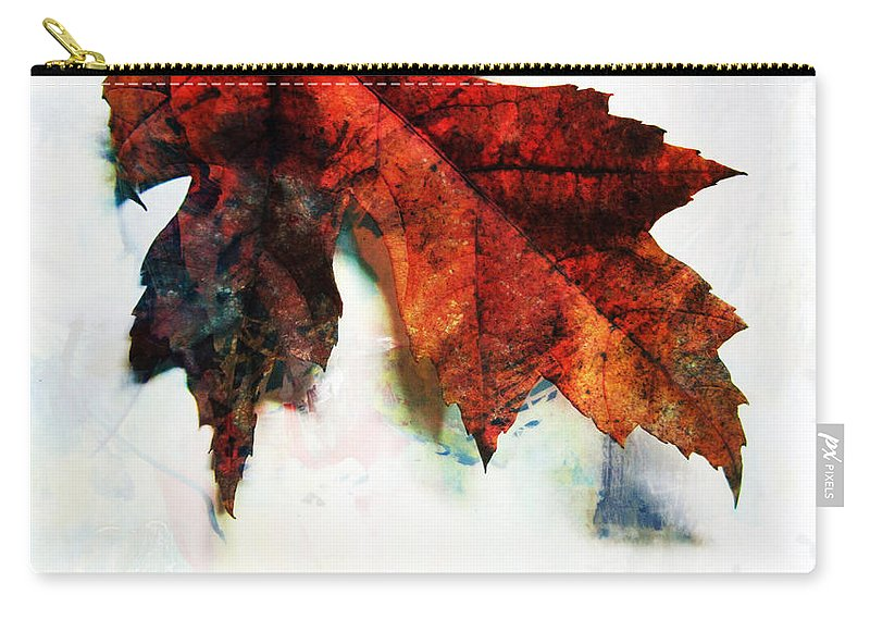 Leaf Carry-all Pouch featuring the photograph Painted Leaf Series 3 by Anita Burgermeister