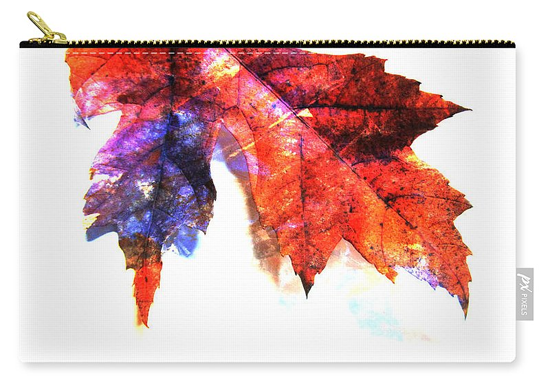 Leaf Carry-all Pouch featuring the photograph Painted Leaf Series 4 by Anita Burgermeister