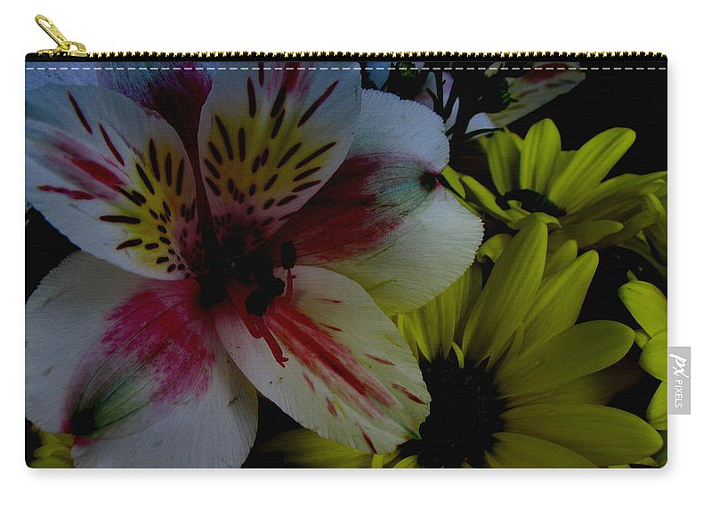 Art For The Wall...patzer Photography Carry-all Pouch featuring the photograph Painted Lily by Greg Patzer