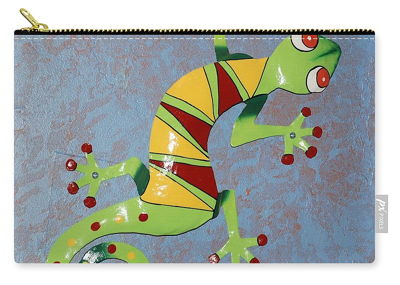 Southwestern Art Carry-all Pouch featuring the photograph Painted Liz by Rob Hans