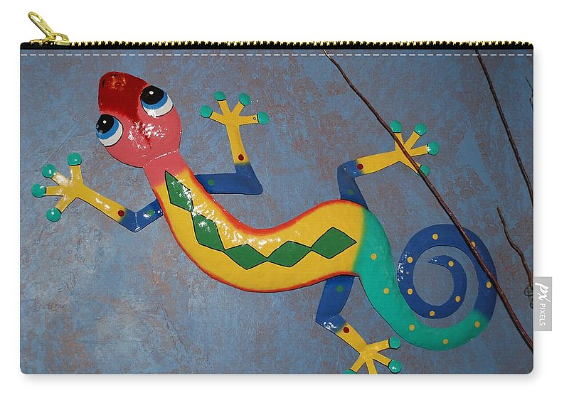 Pop Art Carry-all Pouch featuring the photograph Painted Lizard by Rob Hans