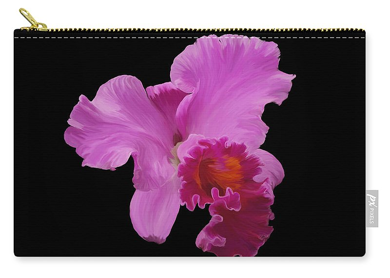 Orchid Carry-all Pouch featuring the photograph Painted Orchid by Phyllis Denton