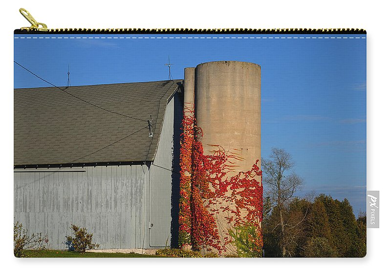 Fall Carry-all Pouch featuring the photograph Painted Silo by Tim Nyberg