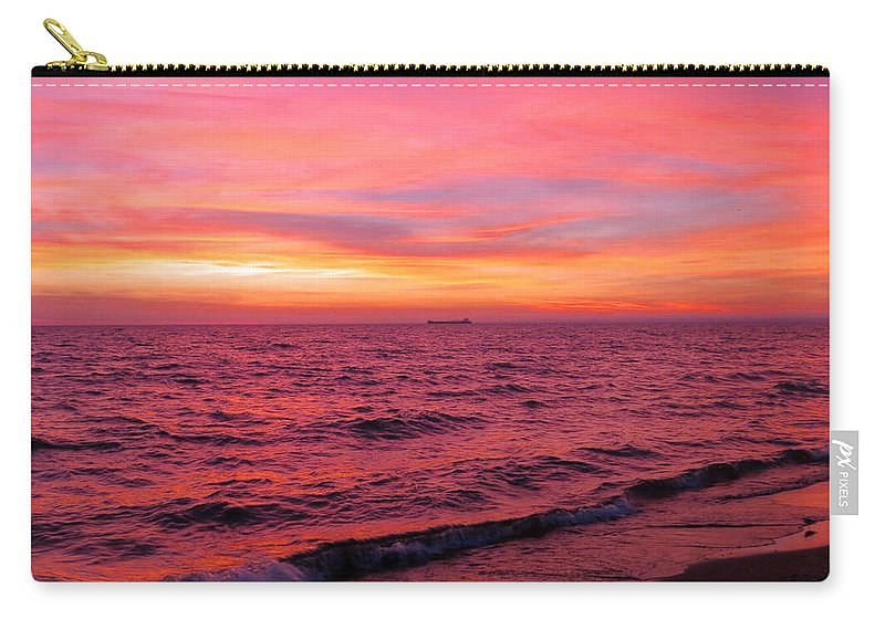 Sunrise Carry-all Pouch featuring the photograph Painted Sunrise by Alison Gimpel