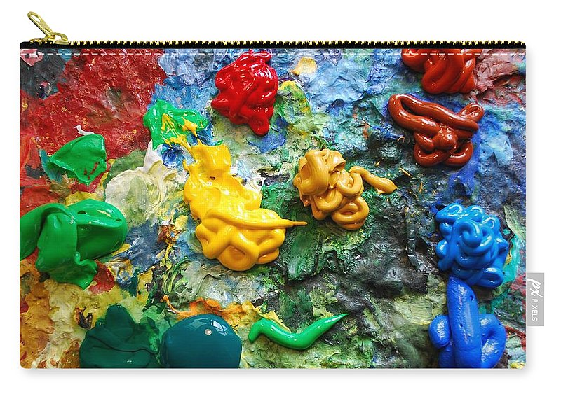 Palette Carry-all Pouch featuring the photograph Painters Palette by Nancy Mueller