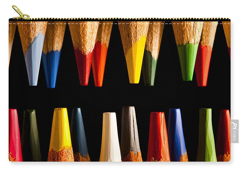 Art Carry-all Pouch featuring the photograph Painting Pencils by Marc Garrido
