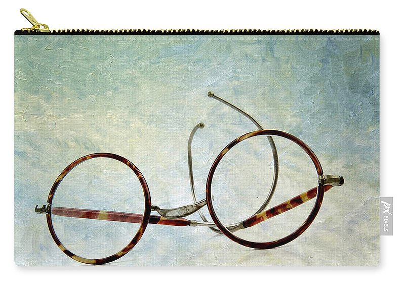 Texture Carry-all Pouch featuring the photograph Pair Of Glasses by Bernard Jaubert