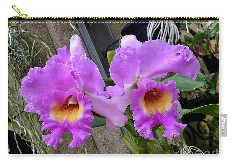 Art Carry-all Pouch featuring the photograph Pretty Purple Orchids by Jeannie Rhode