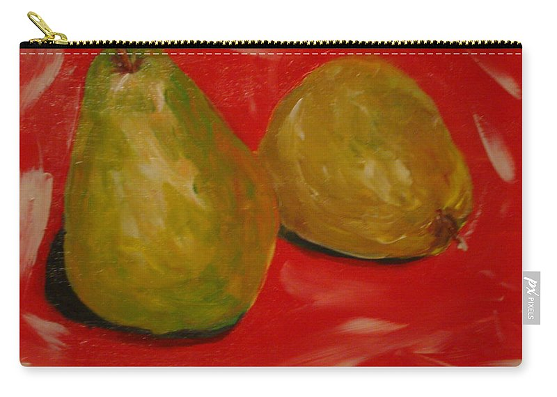 Pears Carry-all Pouch featuring the painting Pair Of Pears by Melinda Etzold