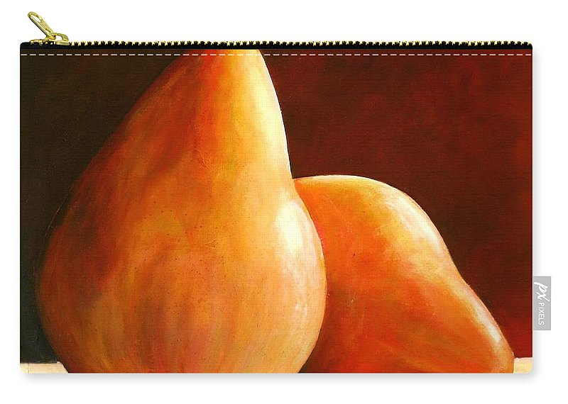 Pear Carry-all Pouch featuring the painting Pair Of Pears by Toni Grote