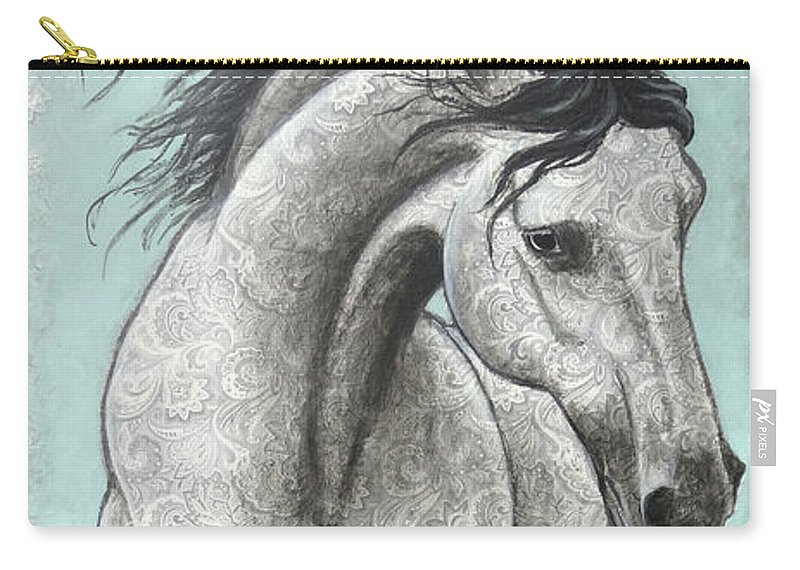 Paisley Andalusian Carry-all Pouch featuring the painting Paisleylusian by Ande Hall
