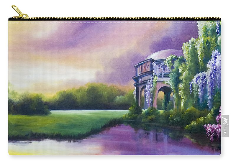 Marsh Carry-all Pouch featuring the painting Palace Of The Arts by James Christopher Hill