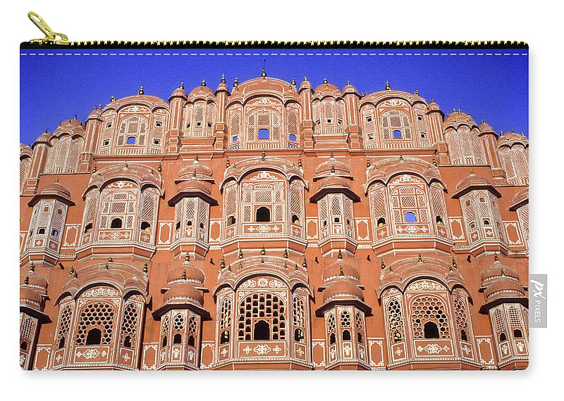 India Carry-all Pouch featuring the photograph Palace Of The Wind by Michele Burgess