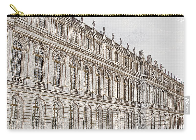 France Carry-all Pouch featuring the photograph Palace Of Versailles by Amanda Barcon