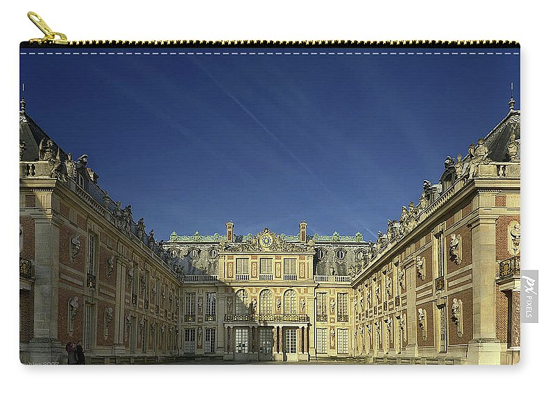 Palace Of Versailles Carry-all Pouch featuring the digital art Palace Of Versailles by Mery Moon