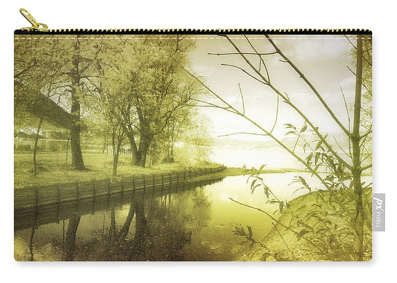 River Carry-all Pouch featuring the photograph Pale Reflections Of Life by Tara Turner